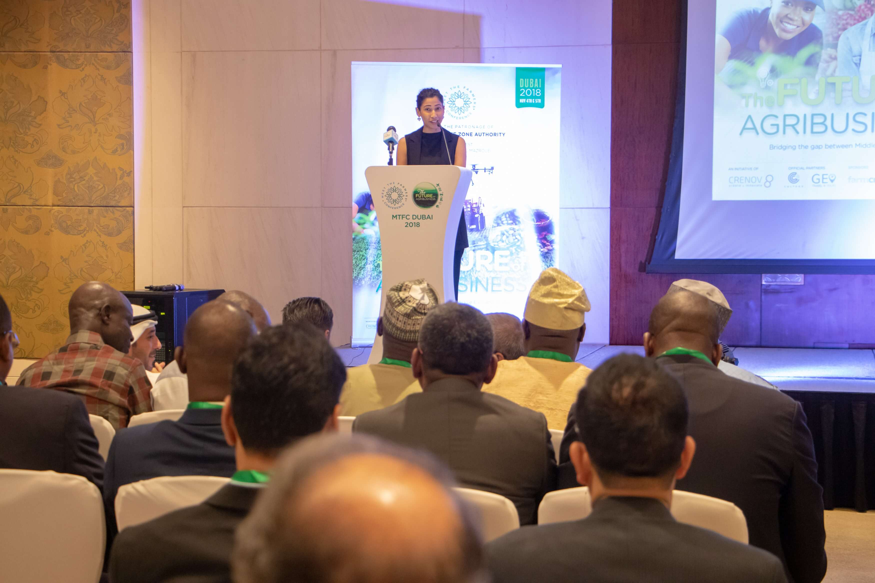 Speaker addressing participants at MTFC 2018 Agro conference