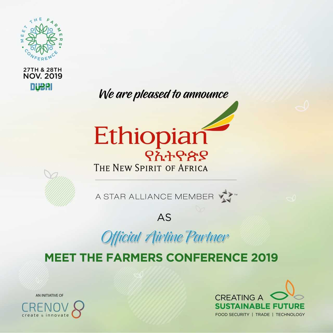 Agro Trade Between Africa & GCC: Ethiopian Airlines Joins Hands with CRENOV8