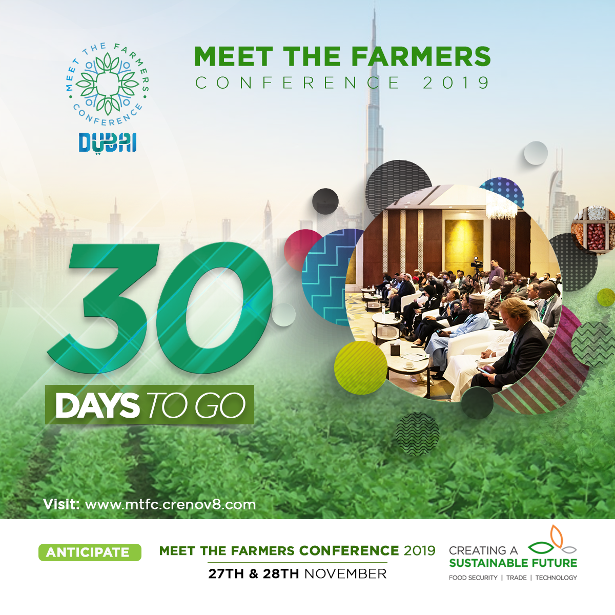 MTFC 2019 Holds in 30 days, the Largest Agro Conference in the MENA